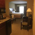 Our king bed suite on 4th floor at Holiday Inn Express in McAlester, OK