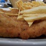 Schnitzel with fries.