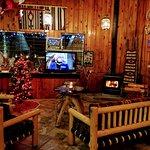 Lobby during Christmas season