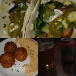 Sausage Risotto Balls, Pork Belly Tacos, and Boulevard Tropical