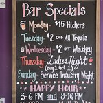 Varies daily, but here's just a taste at what our nightly specials look like!