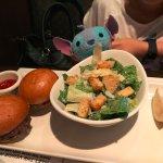 Kids Burger and Caesar Salad