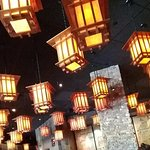 Dining area-- filled with lanterns