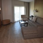 Nice sittinng area in a suite