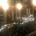 Mackinac Island Village Inn front porch great illuminated at night or daytime!