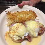 Sunday Morning Special Eggs Benedict with Hash Browns