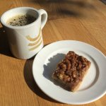 Coffee and a Pecan Bar.... YES!