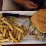 Burger was cooked just right and the garlic fries were perfect!