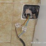 Dangerous electrical connection