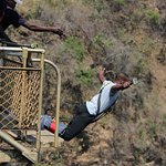 you jump 111 metres from the brigde along the zambezi river