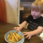 Added a photo of a very small 2 year old so you can actually understand the size of the dish.