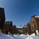 Gakuto Villas Exterior in the snow