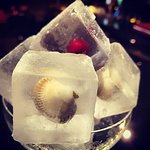 "Ice cubes! Special made for "" Balzambars""!"