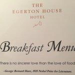 Photo de Egerton House Hotel