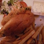 Fish and chips $24 mark