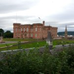 View of the Inverness Castle from the Dining area terrace