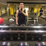 Clean area to do exercise.. Selfie muna bago gym Sir Jeff