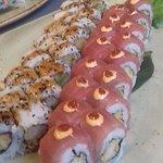 Et enkelt fad med Sushi til fire. Forretten.