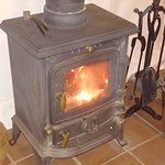 The fab log burner in our shieling