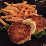 Crabcakes usually come with mashed but I asked for fries