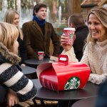 Starbucks open with a Plaza for you to enjoy your coffee
