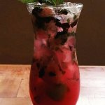 Blueberry Mojito, for the ladies refreshing and pretty...