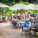Inside, Gardenside & Tented Deck Dining