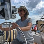 Susan at the helm