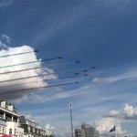 Red Arrows arrive overhead