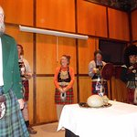 Haggis Ceremony with host