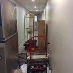 Hotel guest floor hallway