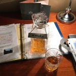 Free Whiskey in room.