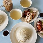 2 sets of char siew chicken rice