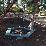 Pictures of the BBQ and kids play area, we use the BBQ most holidays, bring your own coals and u