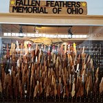 Amazing hand carved feathers of each of Ohio's fallen in Iraq and Afghanistan