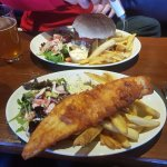 Fish and chips - certainly not mean on the portion size or flavour
