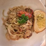 Lobster pasta in tarragon cream