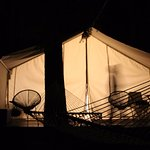 night time at the glamp