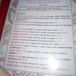 Mim's menu 8/30/17