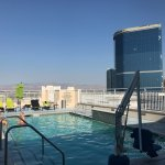 Roof top pool on the 24th floor