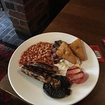 This was my Large breakfast which also had a slice of toast and butter and unlimited Coffee or t