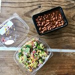 Sides: beans and broccoli salad