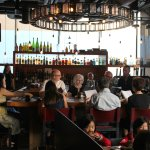 Bar at the Charcut restaurant.