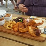 Surf and turf platter was plenty to share between a family of 3!