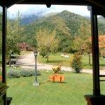 Vista desde la puerta de acceso hacia la montaña