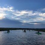 Kayaking back to mainland