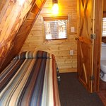 Cabin 13 loft with twin beds