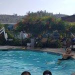 girls enjoying pool