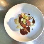 Foie gras poêlé au boudin noir