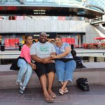 Awesome picture with my family and I whilst shopping in Cabot Circus Bristol